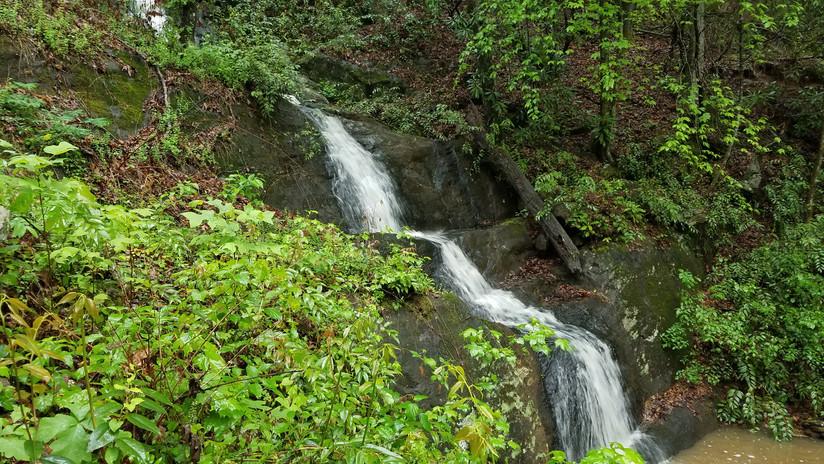 Waterfall on property