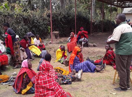 SENSITIZATION MEETING IN MAASAI COMMUNITY AT NAMAYANA WARD IN ARUSHA REGION