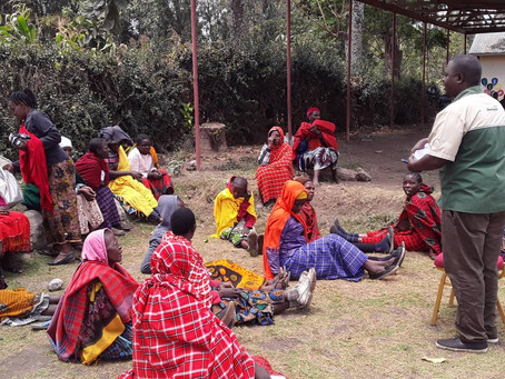 SENSITIZATION MEETING IN MAASAI COMMUNITY AT NAMAYANA WARD IN ARUSHA REGION