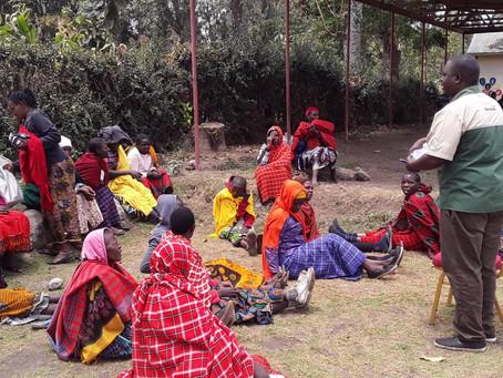 Mkutano wa uhamasishaji katika jamii ya Maasai Kata ya Namayana Mkoani Arusha