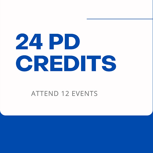 24 Hours of CPD Credits (12 Events)