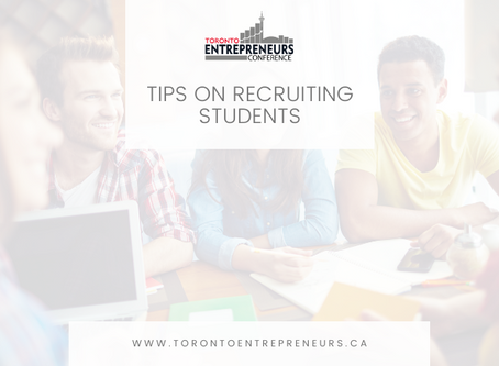 Tips on Recruiting Students