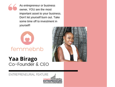 Entrepreneurial Feature: Yaa Birago, Co-Founder & CEO