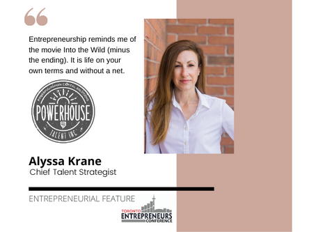 Entrepreneurial Feature: Alyssa Krane, Chief Talent Strategist