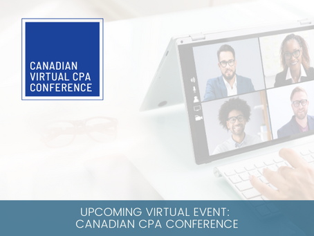 Upcoming Virtual Event: Canadian CPA Conference