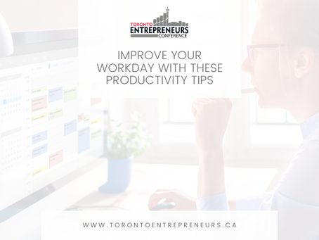 Improve Your Workday with these Productivity Tips
