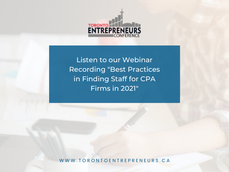 """Listen to our Webinar Recording """"Best Practices In Finding Staff For CPA Firms In 2021"""""""