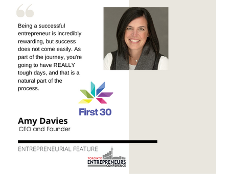 Entrepreneurial Feature: Amy Davies, CEO and Founder