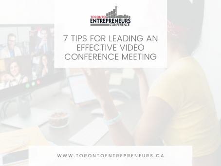 7 Tips for Leading an Effective Video Conference Meeting