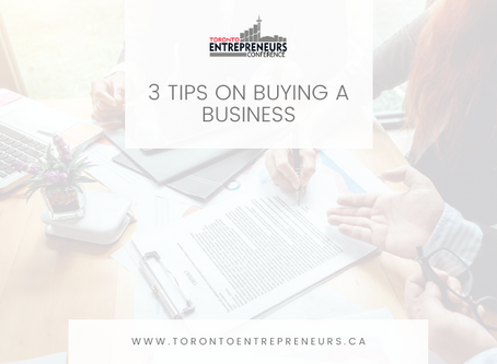 3 Tips on Buying a Business