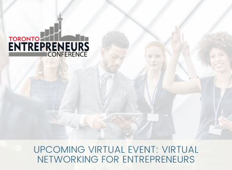 Upcoming Virtual Event: Networking for Entrepreneurs Virtual Conference