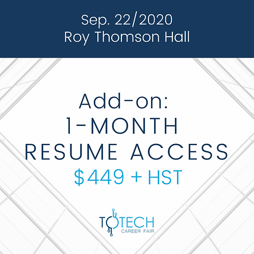 1-Month Resume Access (Sep 22, 2020)