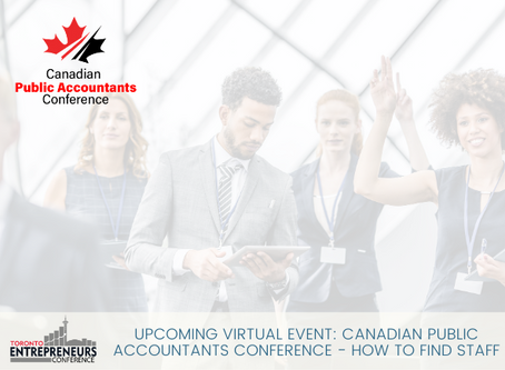 Upcoming Virtual Event: Canadian Public Accountants Conference - How to Find Staff
