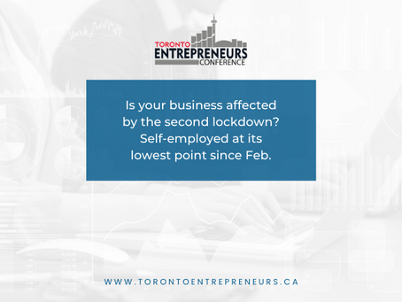Is your business affected by the second lockdown? Self-employed at its lowest point since Feb.