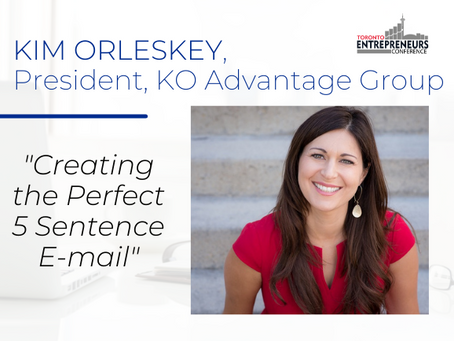 """""""Creating the Perfect 5 Sentence E-mail"""" by Kim Orlesky"""