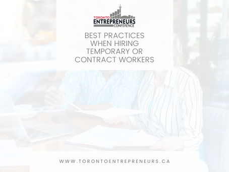 Best Practices When Hiring Temporary or Contract Workers