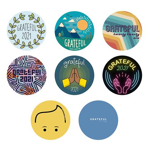 Grateful 2021 Stickers