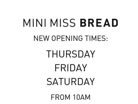 MINI MISS BREAD w/c 9th September