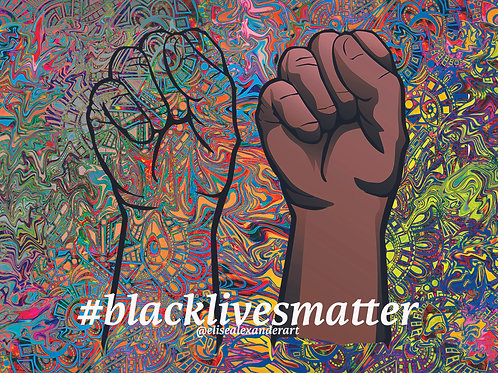 Black Lives Matter- Stand United Sticker for Charity