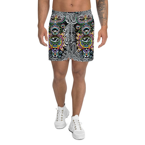 Divine resurrection Athletic Long Shorts