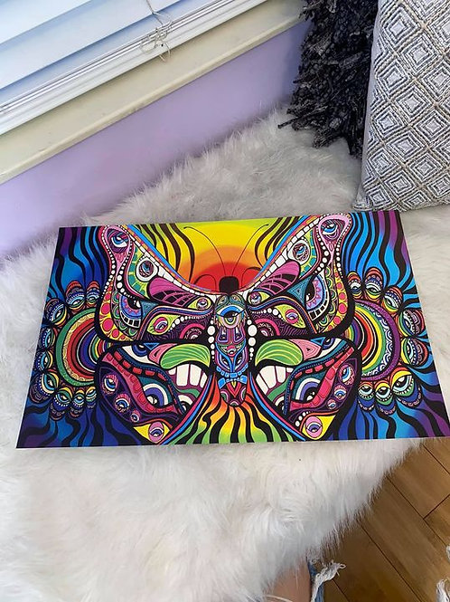 Rainbow Butterfly Print 11x17 in