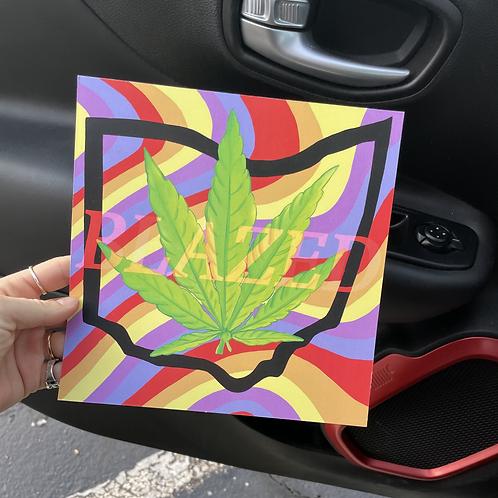 Blazed Print 8x8in