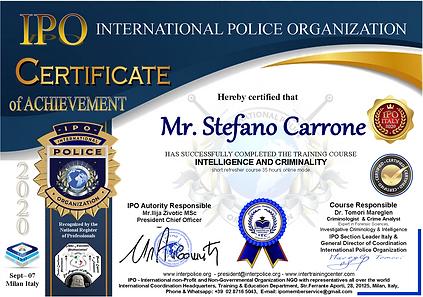 IPO Course Intelligence-Criminalita Carr