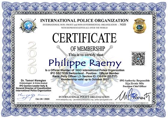 IPO Membership Cert. Philipe Raemy.png