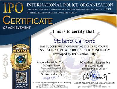 IPO Course Certificate Stefano Carrone.p