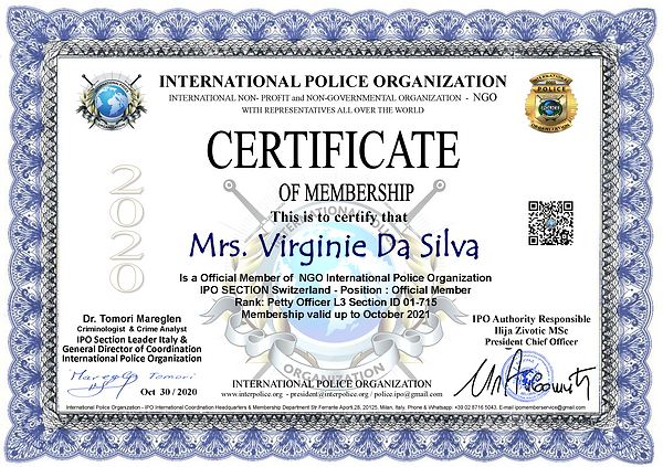 IPO Membership Cert. Virginie Da Silva.p