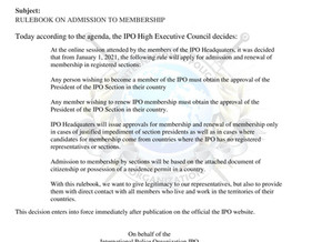 DECISION OF IPO HIGH EXECUTIVE COUNCIL NR-01/05/01/20