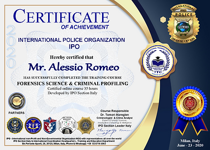 Alessio Romeo-IPO Italy Course Forensics