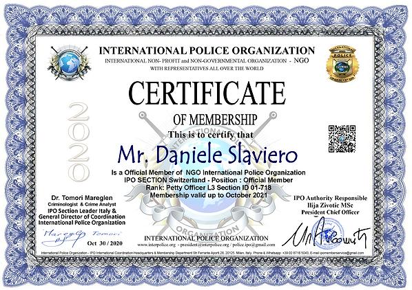 IPO Membership Cert. Daniele Slaviero.pn