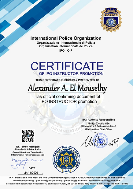 IPO Instructor Alexander A. El Mouselhy.