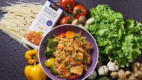 Szechuan Noodle Set only Foods prob and