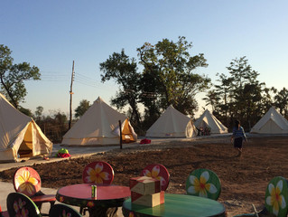 Our bell tents are ready to rent :)