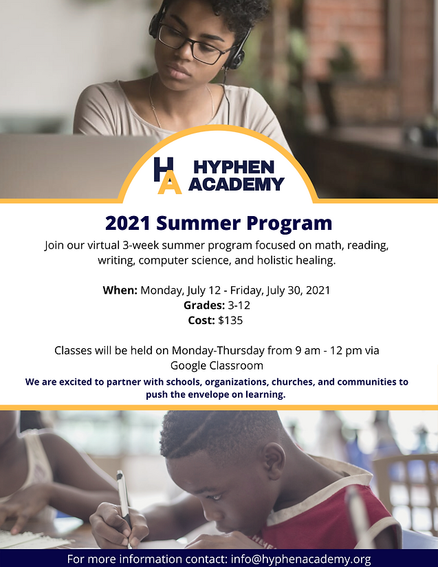 Join our virtual 3-week summer program f