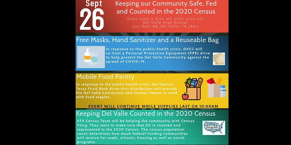 Keeping Del Valle Safe, Fed and Counted in the 2020 Census