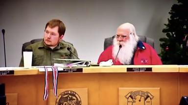 Councilman Santa Claus and Mayor Bryce W