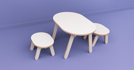 שולחן וכיסאות לילדים, כיסאות לחדר ילדים, שולחן לילדים, שולחן מעץ לילדים, עיצוב חדרי ילדים, קידזו, כסאות מעץ לילדים, סט שולחן וכיסאות לילדים