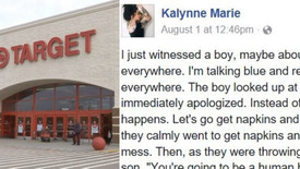 Toddler Spills Huge Slushee In Target, Witness Quickly Grabs Her Phone