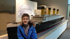 Autistic Boy Overcomes Obstacles And Builds The Largest LEGO Replica Of Titanic