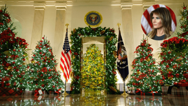 """First Lady Melania Trump Goes Traditional for Final Holiday Season Decor in """"America the Beautiful"""""""