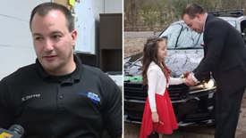 Police Officer Steps Up to Escort Little Girl Without a Dad to Father-Daughter Dance