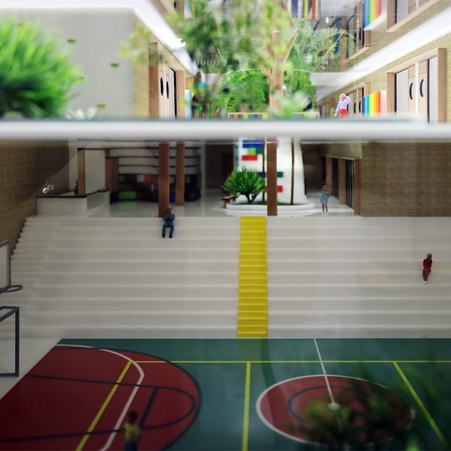 Maquete da Escola CAMB - Fernanda Dabbur Arquitetura