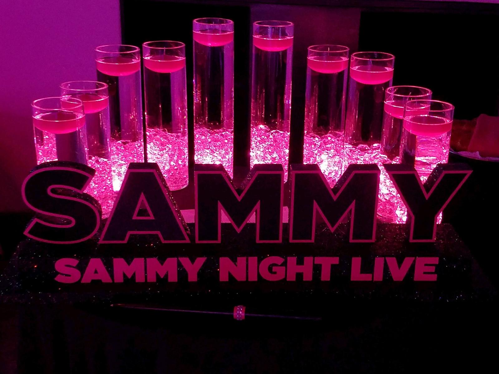 Sammy night live bat mitzvah candle lighting display the decorated sammy night live bat mitzvah candle lighting display aloadofball Image collections