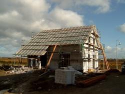 Deltafolie und erste Dachlatten