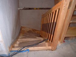 Treppe montiert
