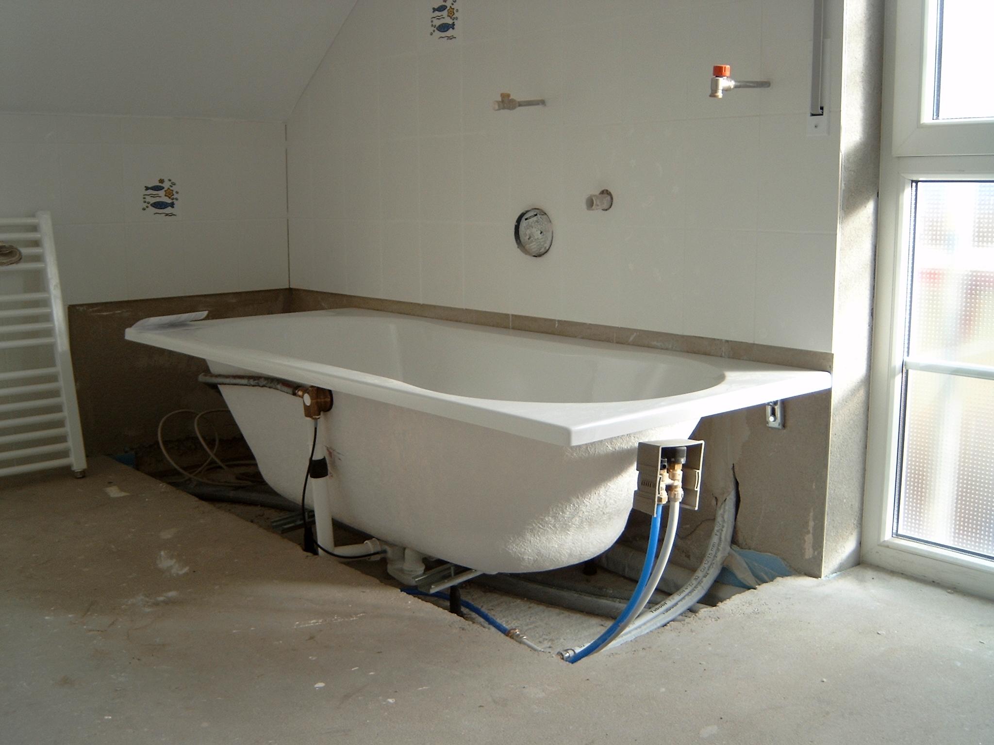 Badewanne montiert