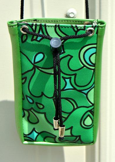 Green Floral Mod Top